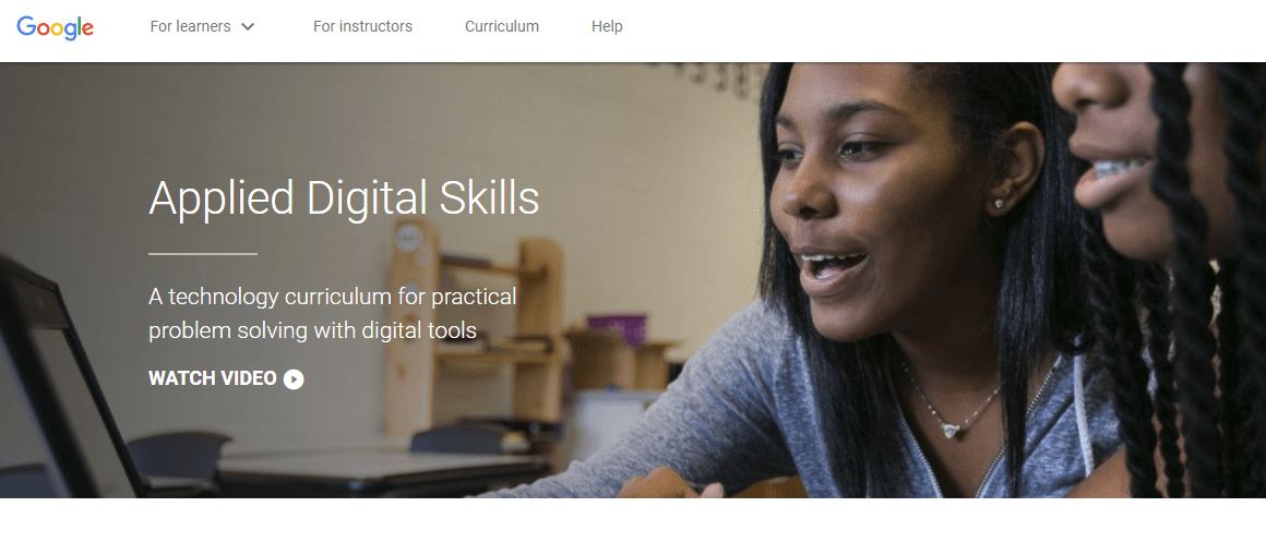 Applied Digital Skills from Google is a free curriculum based on tech skills